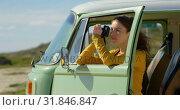 Купить «Pretty woman clicking photo with digital camera on a sunny day 4k», видеоролик № 31846847, снято 20 сентября 2018 г. (c) Wavebreak Media / Фотобанк Лори