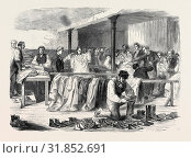 Купить «THE COTTON FAMINE: THE MANCHESTER AND SALFORD DISTRICT PROVIDENT SOCIETY DISTRIBUTING CLOTHING, 1862», фото № 31852691, снято 3 января 2013 г. (c) age Fotostock / Фотобанк Лори