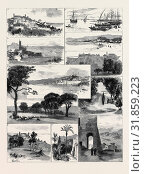 Купить «SKETCHES AT CANNES: 1. Cannes from Hill on West Side, 2. The Quay, 3. St. Raphael, near Fréjus, 4. Beach at Cannes, 5. Old Cemetery, 6. Town of Cannes...», фото № 31859223, снято 3 января 2013 г. (c) age Fotostock / Фотобанк Лори