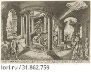 Adoration of the Magi, Philips Galle, 1569 (2014 год). Редакционное фото, фотограф Artokoloro / age Fotostock / Фотобанк Лори