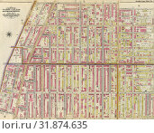 Double Page Plate No. 26: Bounded by Grand Avenue, Willoughby Avenue, Marcy Avenue, Fulton Street, New York Avenue and Atlantic Avenue. (2014 год). Редакционное фото, фотограф Artokoloro / age Fotostock / Фотобанк Лори
