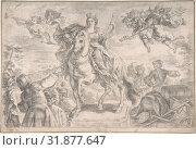 Europe, 1728–74, Graphite, 9 1/4 x 13 3/16 in. (23.5 x 33.5 cm), Drawings, Gottfried Bernhard Goetz (German, Velehrad 1708–1774 Augsburg) (2017 год). Редакционное фото, фотограф © Copyright Artokoloro Quint Lox Limited / age Fotostock / Фотобанк Лори