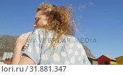 Купить «Romantic couple dancing together at beach 4k», видеоролик № 31881347, снято 14 ноября 2018 г. (c) Wavebreak Media / Фотобанк Лори