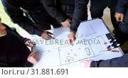 Купить «Military soldiers discussing their plan 4k», видеоролик № 31881691, снято 27 июня 2018 г. (c) Wavebreak Media / Фотобанк Лори