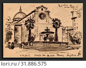 Купить «Oscar F. Bluemner, Piazza S. Spirito, Florence, American, 1867 - 1938, 1912, pen and black ink», фото № 31886575, снято 17 октября 2019 г. (c) age Fotostock / Фотобанк Лори