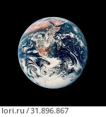 SOL SYSTEM Earth -- 07 Dec 1972 -- This view of the Earth was seen by the NASA Apollo 17 crew as they traveled toward the Moon on their lunar landing mission... (2008 год). Редакционное фото, фотограф Jonathan William Mitchell / age Fotostock / Фотобанк Лори