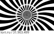 Купить «Animation of hypnotic spiral with blinking circle», видеоролик № 31903499, снято 22 января 2019 г. (c) Wavebreak Media / Фотобанк Лори