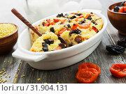 Купить «Millet casserole with dried fruits», фото № 31904131, снято 29 марта 2019 г. (c) Надежда Мишкова / Фотобанк Лори