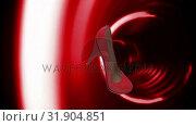 Купить «Digital high heel rotating against red circles», видеоролик № 31904851, снято 22 января 2019 г. (c) Wavebreak Media / Фотобанк Лори