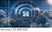 Купить «5G network connections, the future of digital global connectivity 4k», видеоролик № 31905027, снято 6 февраля 2019 г. (c) Wavebreak Media / Фотобанк Лори