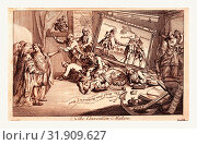 Купить «The convention makers, England 1771, The interior of a room, a picture called A Convention, depicting the Convention between England and Spain on the Falkland...», фото № 31909627, снято 13 июля 2013 г. (c) age Fotostock / Фотобанк Лори