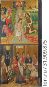 Panel from Saint John Retable, 1464–1507, Made in Aragon, Spain, Spanish, Tempera on wood, gold ground, 59 1/2 x 28 5/8 in. (151.1 x 72.7 cm), Paintings... (2017 год). Редакционное фото, фотограф © Copyright Artokoloro Quint Lox Limited / age Fotostock / Фотобанк Лори