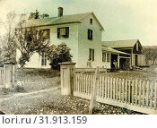 Wooden house in Allegany County, Maryland, Anonymous, in or before 1859 (2016 год). Редакционное фото, фотограф Artokoloro / age Fotostock / Фотобанк Лори