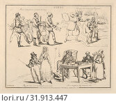 Songs: 'Music hath power to melt the Soul...', 1822, Soft ground etching, Image: 7 7/8 × 10 1/8 in. (20 × 25.7 cm), Prints, Henry Thomas Alken (British... (2017 год). Редакционное фото, фотограф © Copyright Artokoloro Quint Lox Limited / age Fotostock / Фотобанк Лори