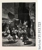 Купить «A LADY OF RANK DRIVING OUT AFTER SUNSET. Egypt, engraving 1879», фото № 31913723, снято 21 октября 2011 г. (c) age Fotostock / Фотобанк Лори