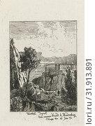 Castle on a rock, Joseph Hartogensis, Lambertus Hardenberg 1822-1900, 1854 (2014 год). Редакционное фото, фотограф Artokoloro / age Fotostock / Фотобанк Лори