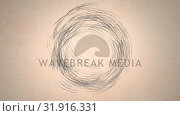 Digital art of lines in circular motion. Стоковое видео, агентство Wavebreak Media / Фотобанк Лори