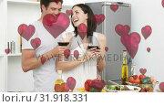 Купить «Couple celebrating», видеоролик № 31918331, снято 13 февраля 2019 г. (c) Wavebreak Media / Фотобанк Лори