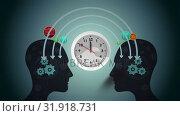 Exchange of ideas and a clock. Стоковое видео, агентство Wavebreak Media / Фотобанк Лори