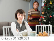 Купить «Adult woman after quarrel with mother», фото № 31920051, снято 5 июня 2020 г. (c) Яков Филимонов / Фотобанк Лори