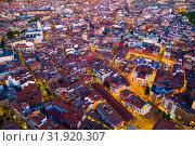 Купить «Panoramic view from the drone on the Valladolid at twilight. Spain», фото № 31920307, снято 19 июня 2019 г. (c) Яков Филимонов / Фотобанк Лори