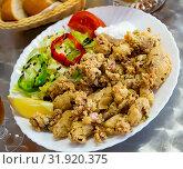 Chipirones battered fried baby squid. Стоковое фото, фотограф Яков Филимонов / Фотобанк Лори