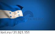 Купить «Waving Honduras flag», видеоролик № 31921151, снято 5 марта 2019 г. (c) Wavebreak Media / Фотобанк Лори