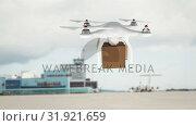 Купить «Animation of delivery drone against a cargo ship », видеоролик № 31921659, снято 5 марта 2019 г. (c) Wavebreak Media / Фотобанк Лори