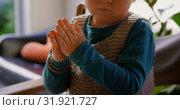 Купить «Little boy playing with clay in a comfortable home 4k», видеоролик № 31921727, снято 28 мая 2018 г. (c) Wavebreak Media / Фотобанк Лори