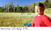 Купить «Girl drinking water in the boot camp on a sunny day 4k», видеоролик № 31922119, снято 16 марта 2017 г. (c) Wavebreak Media / Фотобанк Лори