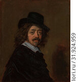Frans Hals (1582/83–1666), probably 1650s, Oil on wood, 12 7/8 x 11 in. (32.7 x 27.9 cm), Paintings, Copy after Frans Hals (Dutch, 17th century) (2017 год). Редакционное фото, фотограф © Copyright Artokoloro Quint Lox Limited / age Fotostock / Фотобанк Лори