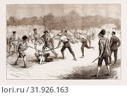 THE GAME OF 'LACROSSE', MÊLÉE BETWEEN CANADIANS AND IROQUOIS INDIANS AT BELFAST, 1876 (2012 год). Редакционное фото, фотограф Artokoloro / age Fotostock / Фотобанк Лори