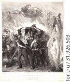 Купить «Aimé de Lemud (French, 1816 - 1887). Le Retour en France, 1841. Lithograph on Chinese paper laid down. Image: 447 mm x 392 mm (17.6 in. x 15.43 in.).», фото № 31926503, снято 22 июля 2013 г. (c) age Fotostock / Фотобанк Лори