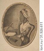 Phillis Wheatley, Negro Servant to Mr. John Wheatley of Boston, ca. 1773, Engraving, oval sheet: 5 x 3 7/8 in. (12.7 x 9.8 cm), Prints, Anonymous, 18th century (2017 год). Редакционное фото, фотограф © Copyright Artokoloro Quint Lox Limited / age Fotostock / Фотобанк Лори