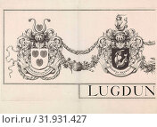 Купить «Coat of arms Leiden with the weapons of the mayors, upper part of the Grote Hagen, left leaf», фото № 31931427, снято 4 января 2015 г. (c) age Fotostock / Фотобанк Лори