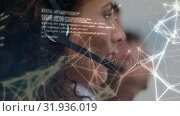 Купить «Call centre agent, constellations and interface codes», видеоролик № 31936019, снято 5 апреля 2019 г. (c) Wavebreak Media / Фотобанк Лори