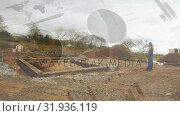 House foundation made of bricks. Стоковое видео, агентство Wavebreak Media / Фотобанк Лори