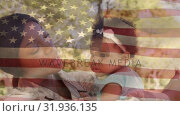 Купить «American soldier carrying her daughter», видеоролик № 31936135, снято 17 апреля 2019 г. (c) Wavebreak Media / Фотобанк Лори