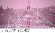 Купить «Woman doing yoga outdoors 4k», видеоролик № 31936423, снято 5 апреля 2019 г. (c) Wavebreak Media / Фотобанк Лори