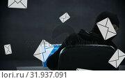 Купить «Hacker hacking emails», видеоролик № 31937091, снято 18 апреля 2019 г. (c) Wavebreak Media / Фотобанк Лори