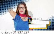 Купить «Woman wearing a superhero costume posing», видеоролик № 31937227, снято 25 апреля 2019 г. (c) Wavebreak Media / Фотобанк Лори