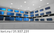 Купить «Flat screen TVs on display at an electronics store», видеоролик № 31937231, снято 25 апреля 2019 г. (c) Wavebreak Media / Фотобанк Лори