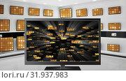 Купить «Flat screen televisions on sale», видеоролик № 31937983, снято 25 апреля 2019 г. (c) Wavebreak Media / Фотобанк Лори