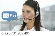 Купить «Call centre agent talking to clients», видеоролик № 31938491, снято 18 апреля 2019 г. (c) Wavebreak Media / Фотобанк Лори