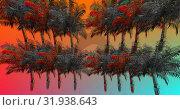 Купить «Colorful palm trees 4k», видеоролик № 31938643, снято 8 мая 2019 г. (c) Wavebreak Media / Фотобанк Лори