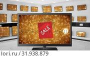 Television with discounted prices . Стоковое видео, агентство Wavebreak Media / Фотобанк Лори