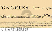 Купить «Written constitution of the United States 4k», видеоролик № 31939859, снято 24 мая 2019 г. (c) Wavebreak Media / Фотобанк Лори