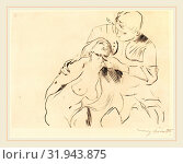 Lovis Corinth, The Reconciliation (Versöhnung), German, 1858-1925, 1914, drypoint in black on laid paper (2011 год). Редакционное фото, фотограф Artokoloro / age Fotostock / Фотобанк Лори