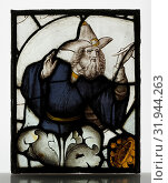 Panel with Prophet from a Tree of Jesse Window, ca. 1500, British, Stained Glass, H. 15-3/4, W. 12- 1/2 in., Glass-Stained (2017 год). Редакционное фото, фотограф © Copyright Artokoloro Quint Lox Limited / age Fotostock / Фотобанк Лори