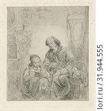 Купить «Girl reads a man from a book, print maker: George Gillis Haanen, 1817 - 1879», фото № 31944555, снято 28 декабря 2014 г. (c) age Fotostock / Фотобанк Лори